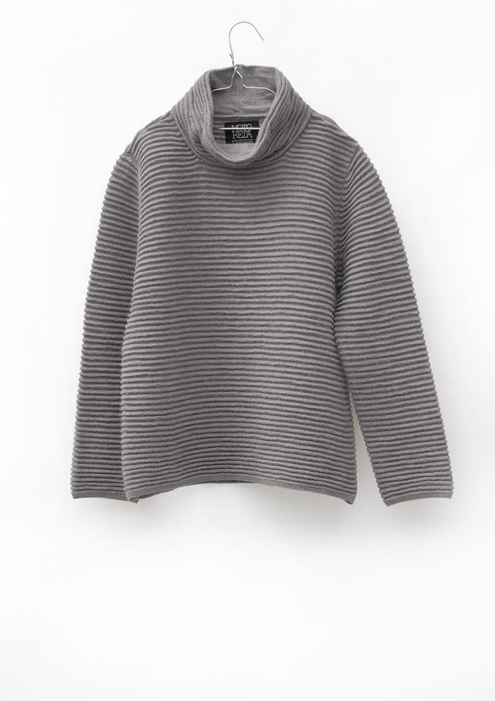 Wide turtleneck sweater grey | MOTORETA
