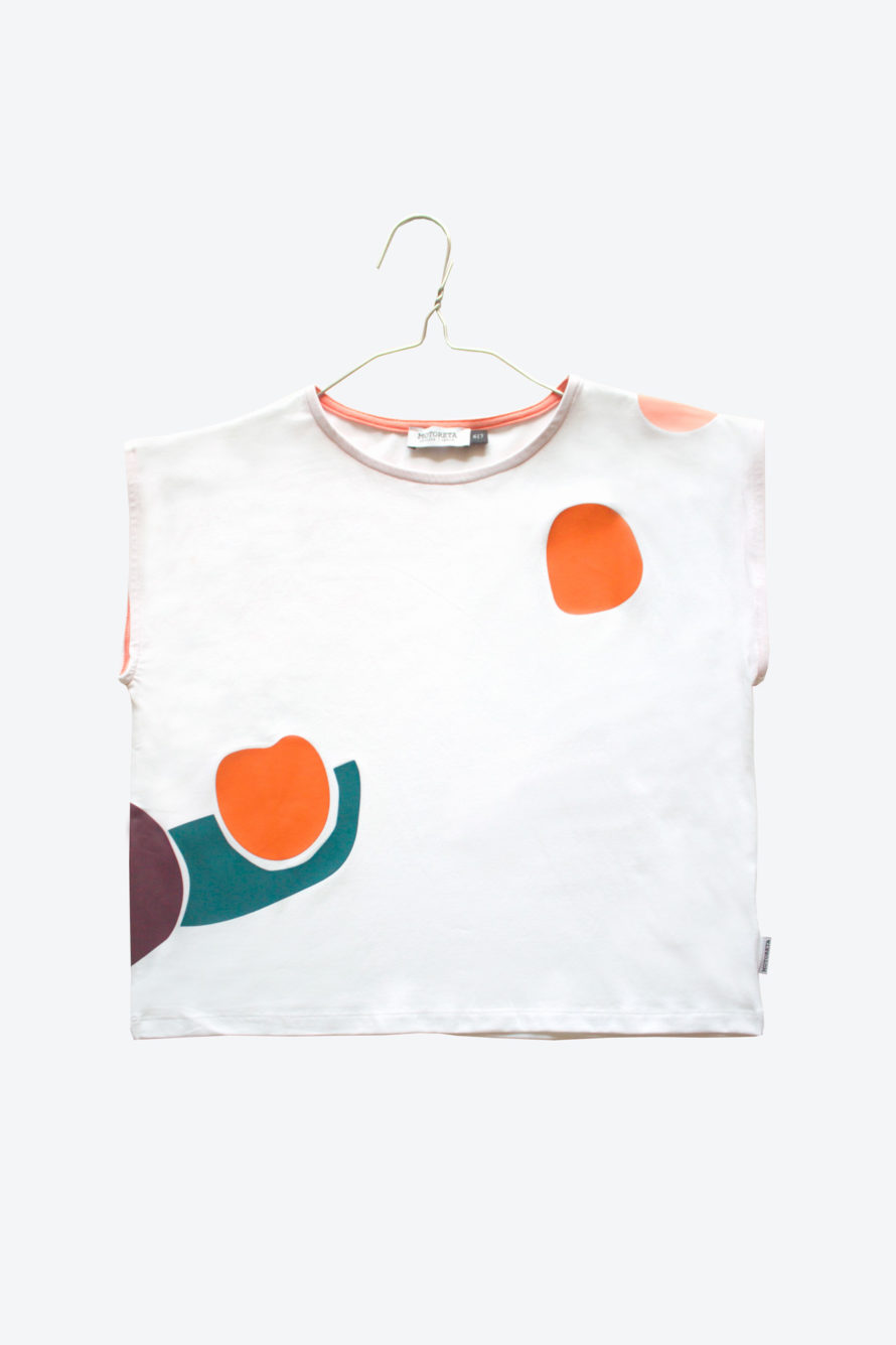 26ee8a6a104423 Aguadulce T-Shirt White with colour spot – MOTORETA